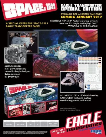 "Space 1999 SPECIAL EDITION 22"" EAGLE TRANSPORTER Limited to only 504 Kits."